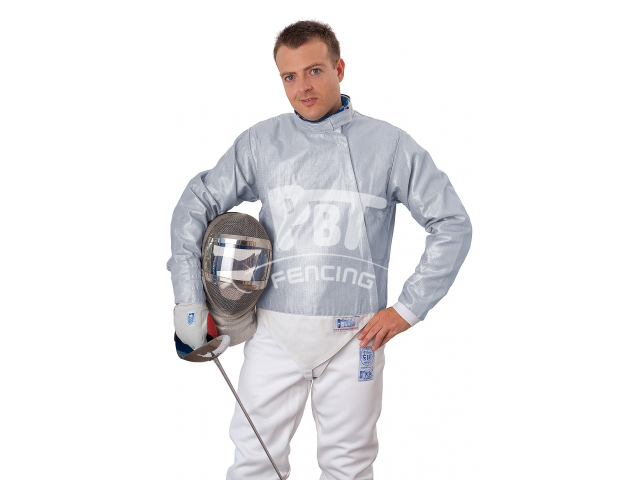 Electric sabre jacket INOX ICE BLUE, washable for men
