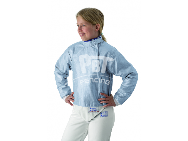 Electric sabre jacket INOX ICE BLUE, washable for children
