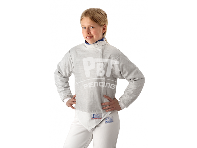 Electric sabre jacket WHITE INOX, washable for children
