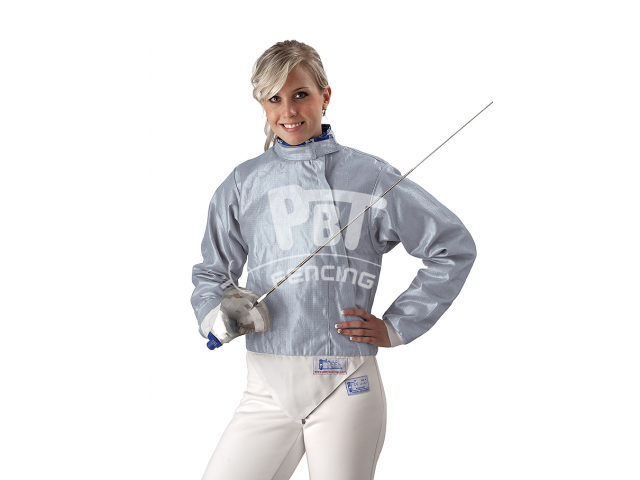 Electric sabre jacket INOX ICE BLUE, washable for women