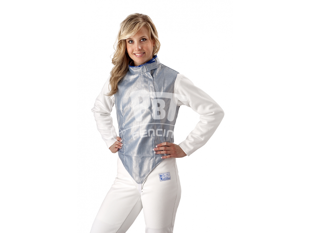 Electric foil jacket INOX ICE BLUE, washable for women