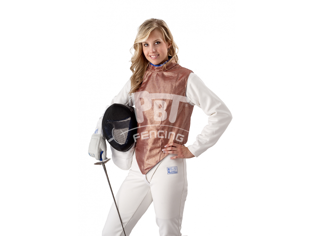 Electric foil jacket INOX DARK RED, washable for women