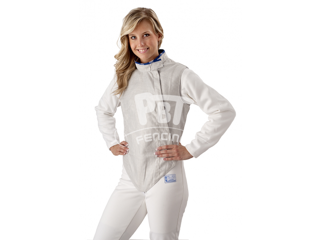 Electric foil jacket WHITE INOX, washable for women