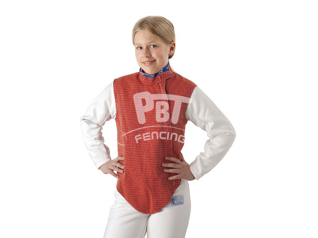 Electric foil jacket non-inox, non-washable RED for children