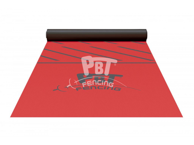 Conductive carpet fencing piste,17x1,55 m ultra resistant, RED
